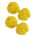 Yellow Silk Knot Cufflinks