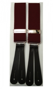 Burgundy Leather End Braces