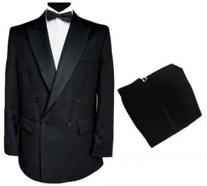 Finest Barathea Wool Double Breasted Dinner Suit