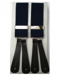 Navy Blue Leather End Braces