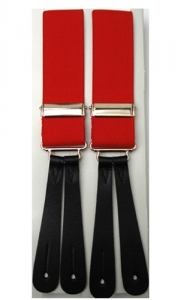 Red Leather End Braces