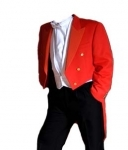 Red Toastmaster Tailcoat - (Finest Barathea Wool)