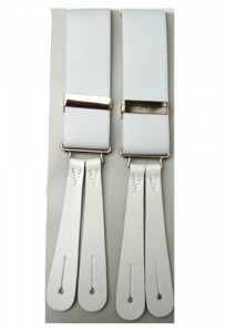 White Leather End Braces